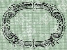 Descargar barroco Oval remolino florecer recargado frontera marco digital, sello de digi, digis, antigua ilustración añadir fotos o texto