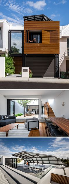 14 Contemporary Australian Houses | This Perth house was opens up on the inside to a private inner courtyard, and the rooftop has been set up perfectly for entertaining and enjoying the views.