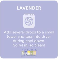 Use lavender in your laundry! #aromatherapy
