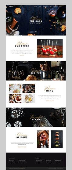 ROSA - An Exquisite Restaurant WordPress Theme #wordpresstheme #uniquedesign #restaurantdesign