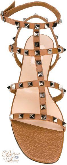 Brilliant Luxury by Emmy DE ♦ Valentino Garavani Rockstud Sandals