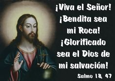 ¡Viva el Señor! ¡Bendita sea mi Roca! ¡Glorificado sea el Dios de mi salvación! (Salmo 18, 47)
