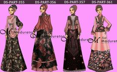 Batik Muslim, Muslim Dress, Dress Drawing, Kebaya, Ikat, Hijab Fashion, Drawings, Illustration, Fashion Design