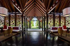 One Reethi Rah, Maldives - Northern Male Atolls, Maldives Atolls, Maldives - Luxury Hotel Vacation from Classic Vacations Kempinski Hotel, Maldives Resort, Modern Bar Stools, Resort Villa, Home Cinemas, Island Resort, One And Only, Hotels And Resorts, Home Interior Design