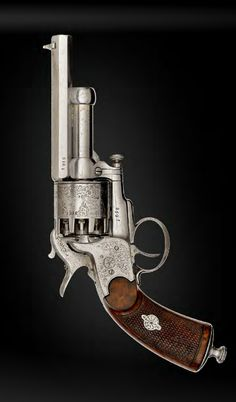 Engraved Paris second model baby LeMat Percussion revolver.