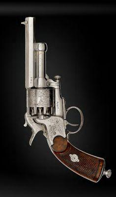 Engraved Paris second model baby LeMat Percussion revolver.