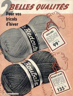 Anuncio antiguo de lanas.