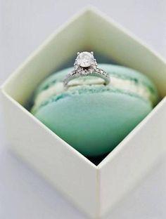 Tiffany & Co., macaroons, diamond ring