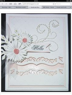 A pretty daisy card made with Delicate Asters die.