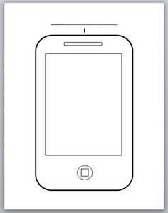 """Here is a free template of an iPhone or Smartphone, perfect for student """"selfies"""". Ideal to use for social/emotional lessons, team-building activities and more! Beginning Of The School Year, First Day Of School, Middle School, Back To School, Team Building Activities, Therapy Activities, Social Work, Social Skills, School Counseling"""