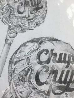Chupa chups lollipop pencil sketch drawn by seller and signed. Realistic Pencil Drawings, Pencil Art Drawings, Cool Art Drawings, Art Drawings Sketches, Disney Drawings, Drawing Ideas, Drawing Tutorials, Drawing With Pencil, Creative Pencil Drawings