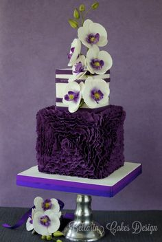 Birthday Cakes with Orchid Flowers | Purple-orchid-mothers-day