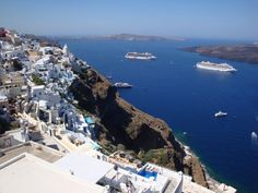 Santorini Island: The stunning pre-volcanic island (Part – Santorini Honeymoon, Santorini Villas, Santorini Island, Santorini Greece, Travel And Tourism, Travel Destinations, Travel Tips, Best Hotels In Greece, The Places Youll Go