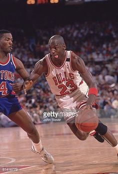 Fotografia de notícias : NBA Playoffs, Chicago Bulls Michael Jordan in...