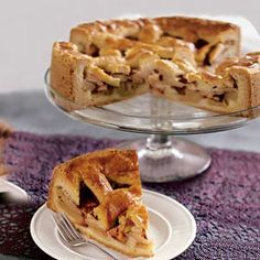 Traditionele Hollandse appeltaart - Traditional Dutch apple pie