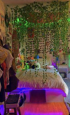 Indie Bedroom, Indie Room Decor, Cute Bedroom Decor, Room Design Bedroom, Teen Room Decor, Room Ideas Bedroom, Girls Bedroom, Cool Bedroom Ideas, Cool Kids Bedrooms