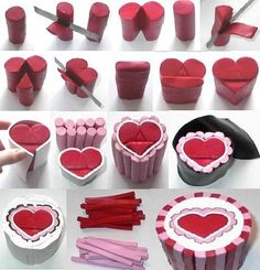 Heart design polymer clay cane.                                                                                                                                                     Mehr