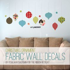 Christmas ornament fabric walldecals - It's Always Autumn