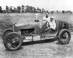 Charles Wiggins, WINNER in 1926 -- In the 1920s, a group of black sportsmen created the nation's single largest sporting event ever held by and for African Americans: the Gold and Glory Sweepstakes, a series of 100-mile auto racing events held through the U.S. from 1924-1936.    On August 2, 1924, an estimated 12,000 spectators crowded into the grandstand at the Indiana State Fairgrounds dirt track to celebrate the single largest sporting event ever held for African Americans.