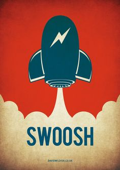 Swoosh Vector Rocket Illustration - By David Wildish 2012