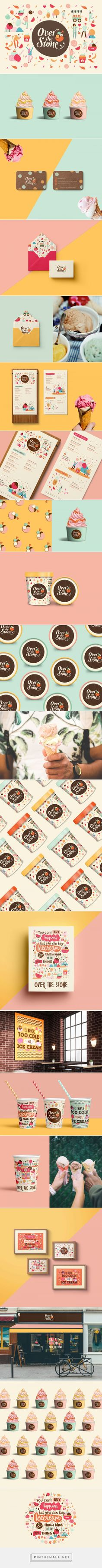 Over the Stone Ice Cream Shop Branding by Meroo Seth, Nachiket Jadhav, and Mechi Co.design | Fivestar Branding Agency – Design and Branding Agency & Curated Inspiration Gallery #icecreamshop #icecreambranding #branding #brand #brandinginspiration #design #graphicdesign