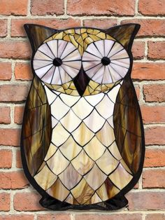 Student Work - Stained Glass Mosaic Owl created by Jessamyn in a Kasia Mosaics Owl Workshop - For a full list of classes and locations visit http://kasiamosaicsclasses.blogspot.com/