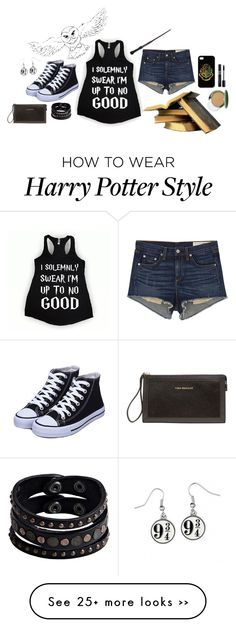 """""""Untitled #25"""" by cqd2015 on Polyvore featuring rag & bone/JEAN, Replay, Clinique, Vera Bradley, harrypotter and hogwarts"""