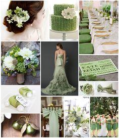 Sage Green Wedding Theme Board | Fearless Brides
