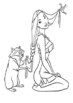 beautiful pocahontas coloring pages