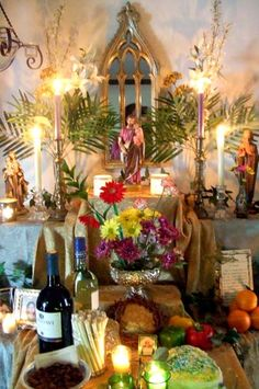 St. Joseph Altar---use this blog fest and past blog fests for inspiration for your very own family St. Joseph altar.