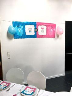Baby Shower Gender Revival Banner - Little Man or Little Miss?