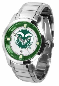Colorado State Rams CSU NCAA Mens Titan Steel Watch by SunTime. $121.95. Links Make Watch Adjustable. Stainless Steel. Officially Licensed Colorado State Rams Men's Stainless Steel Outdoor Watch. AnoChrome Bezel. Men. This superb quality Titan Watch timepiece with Stainless Steel Band features a quartz accurate movement stainless steel band and your favorite collegiate logo. The Titan Steels stylish design enables you to express your loyal school spirit with a more form...