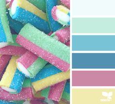 Candied Hues - http://www.design-seeds.com/summer/candied-hues
