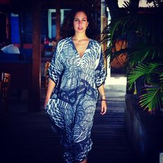 """""""A #lottyb #kaftan - perfect outfit for sundowners #basilsbar #mustique"""""""