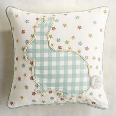 Gingham Bunny Pillow