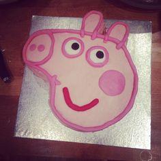 Fab #peppapig birthday cake