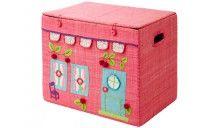 RICE Spielzeugtruhe Haus pink