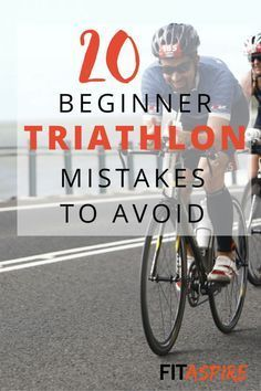 Beginner Triathlon Mistakes To Avoid Ready to try your first triathlon? Make sure you avoid these 20 Beginner Triathlon Mistakes!Ready to try your first triathlon? Make sure you avoid these 20 Beginner Triathlon Mistakes! Triathlon Ironman, Triathlon Women, Triathlon Gear, Ironman Triathlon Motivation, Xterra Triathlon, Triathlon Swimming, Triathlon Distances, Triathlon Tattoo, Triathlon Wetsuit