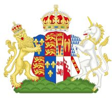 coat of arms for Jane Seymour as Queen of England (1536-1537), Henry VIII's third Queen