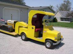 Hand Built Golf Cart, Caterpillar Bulldozer and Trailer