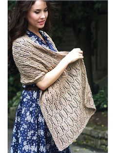 Cathedral Window Shawl Knit Pattern