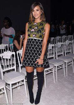 Nab a vibrant print dress like Jessica Alba #DailyMail