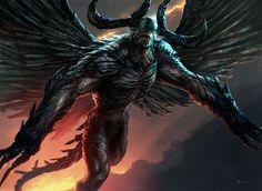 Phyrexian Demon, Aleksi Briclot on ArtStation at http://www.artstation.com/artwork/phyrexian-demon