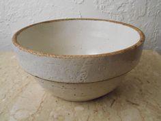 Antique Vintage Salt Glazed Primitive Stoneware Dough Mixing Bowl by CollectingVintage on Etsy https://www.etsy.com/listing/238861013/antique-vintage-salt-glazed-primitive
