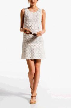 Элегантное платье от Massimo Dutti крючком