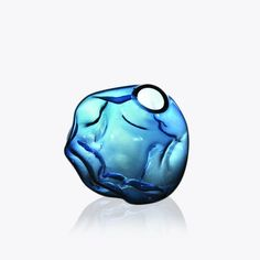 Crumpled Glass Orb Quirky Decor, Blue Vases, Glass, Fun, Color, Home Decor, Decoration Home, Drinkware, Room Decor