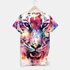 Eye Of The Tiger T-shirt #tiger #wild #animals #watercolor #art #painting #illustration #digitalart #women #men #kids #fashion #tshirt #streetwear