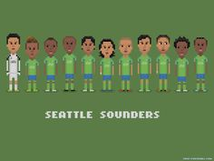 Seattle Sounders by 8bit-football.com