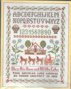 Vintage cross stitch samplers
