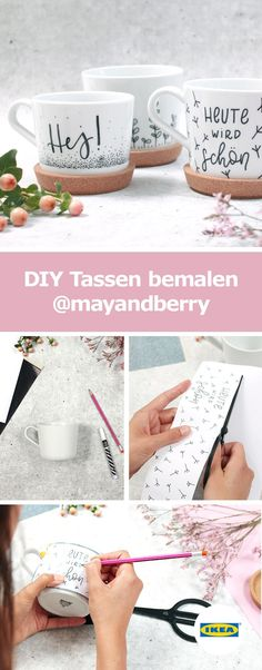 Tassen bemalen Tassen bemalen The post Tassen bemalen appeared first on Ikea ideen. Ikea Cups, Diy Becher, Mug Diy, Design Ikea, Tassen Design, Berry, Kitchen Planner, Painted Cups, Cup Design